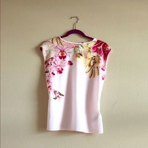 Ted Baker floral top size 1